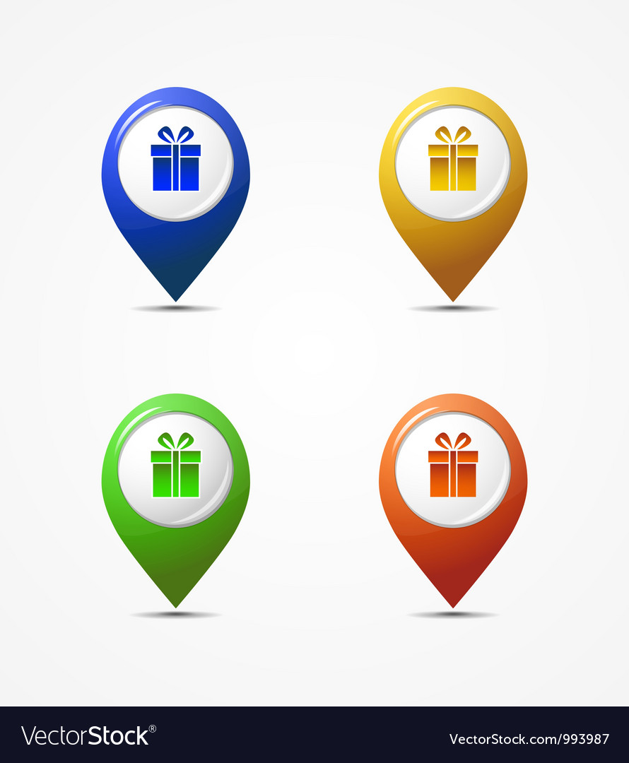 Map pointer icons