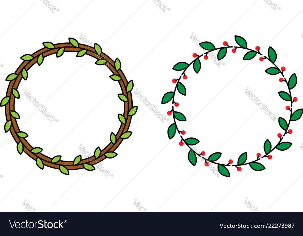 Minimalistic color wreaths