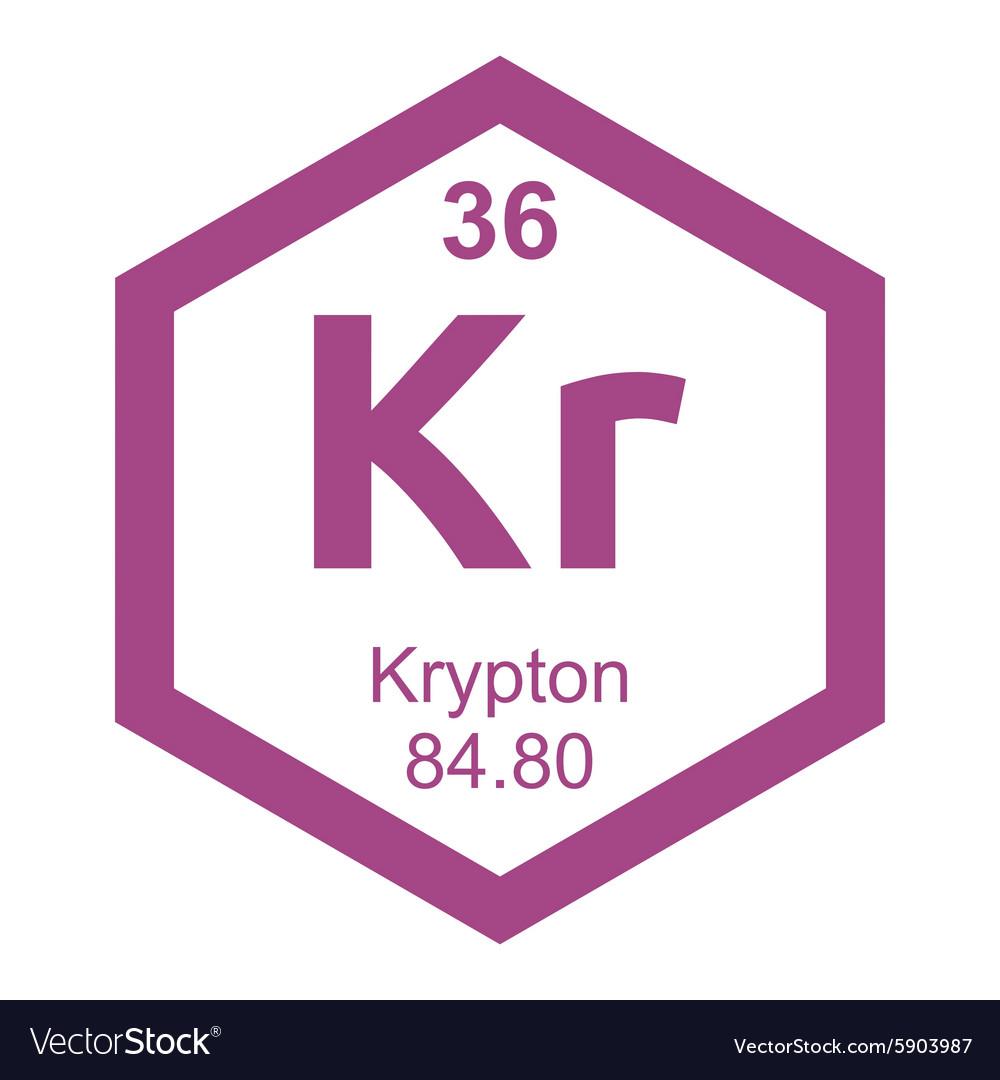 Periodic table krypton vector image