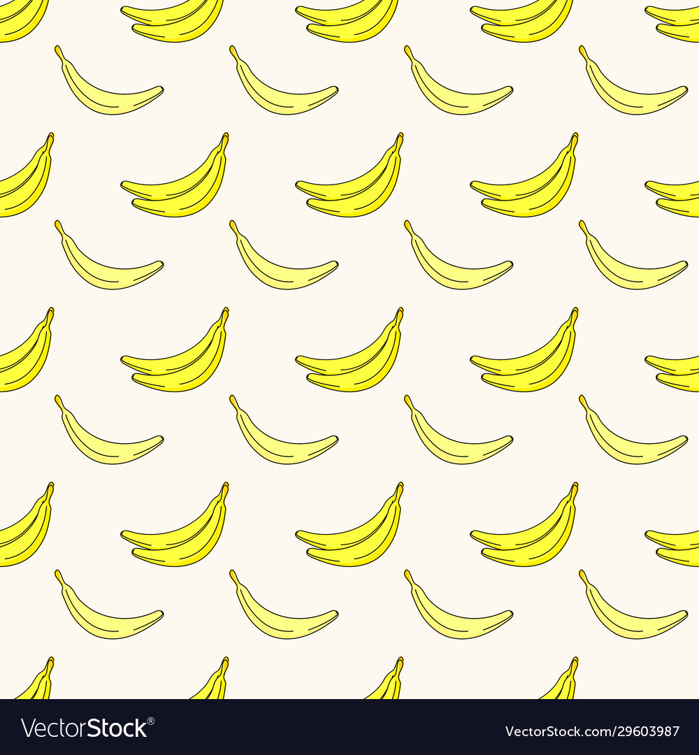 Seamless pattern with bananas tropical