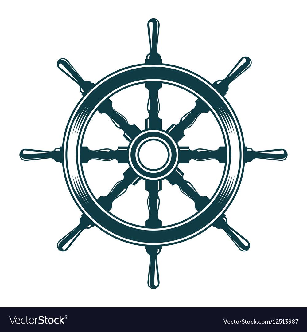 ship steering wheel royalty free vector image vectorstock vectorstock