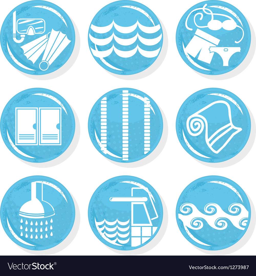 Spa swimming pool icons