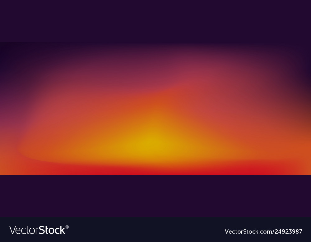 Sunset Gradient Background Royalty Free Vector Image