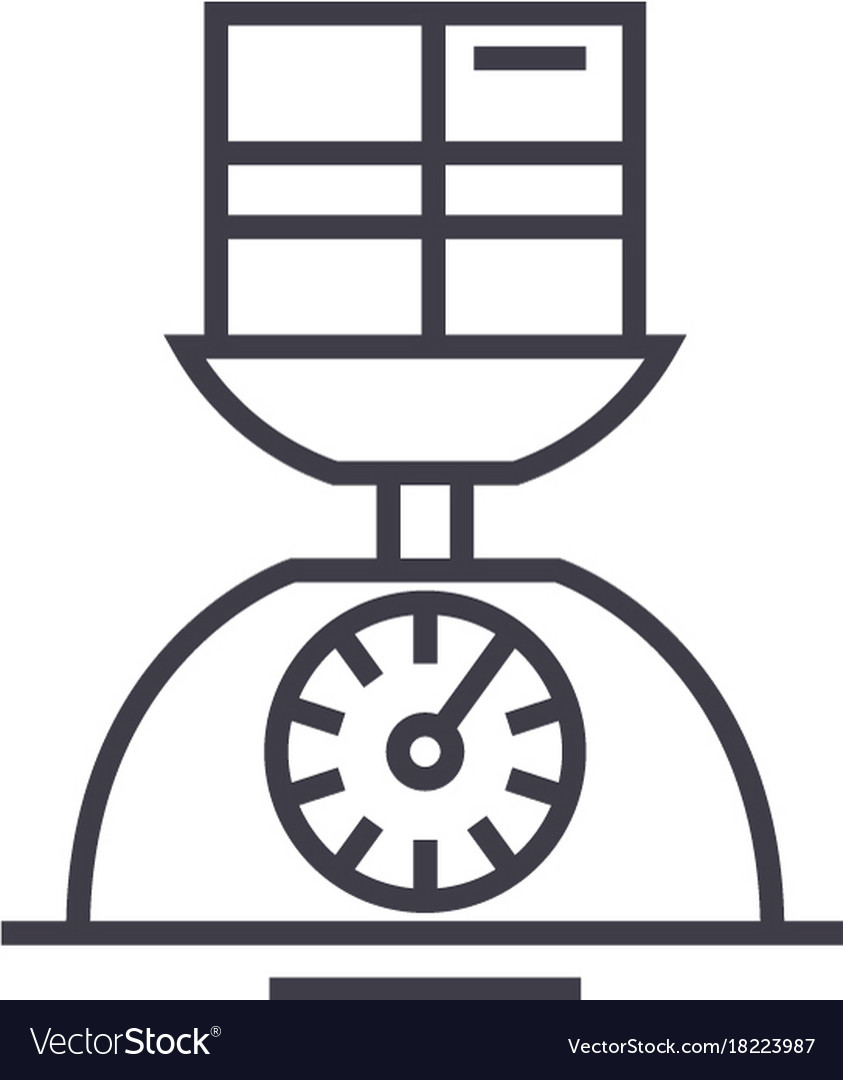 Weight scale linear icon sign symbol on