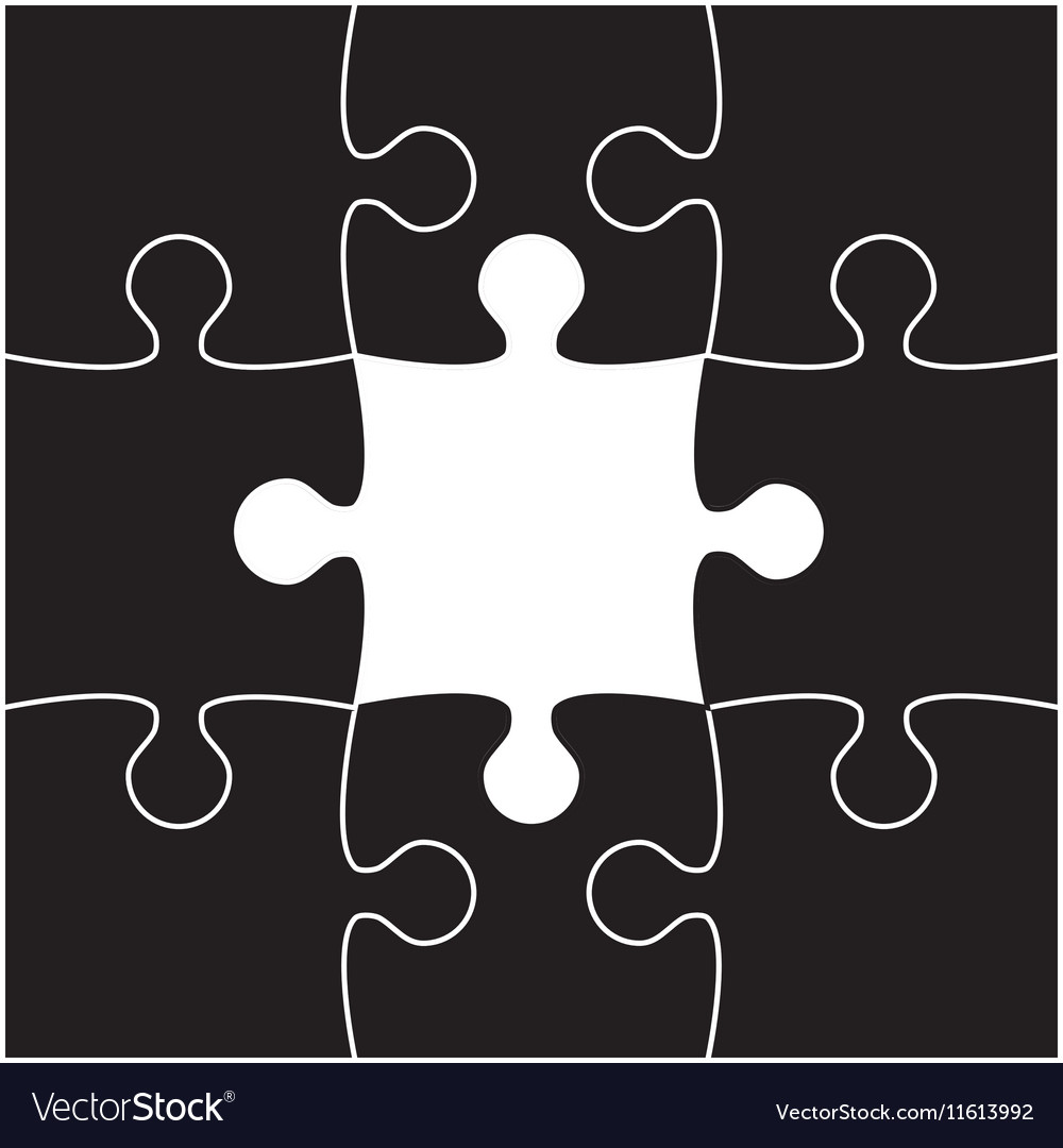 Black Puzzles Piece JigSaw