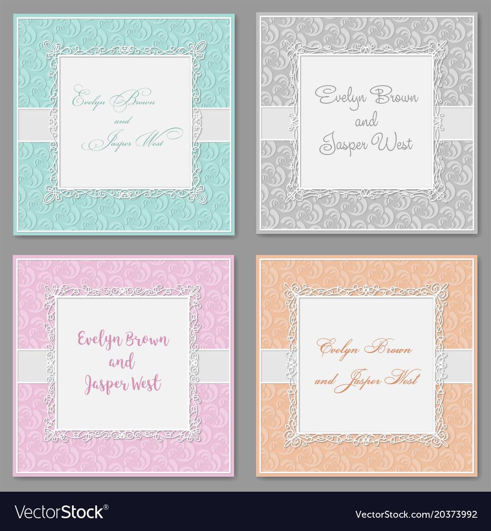 Elegant wedding invitation set beautiful stylish