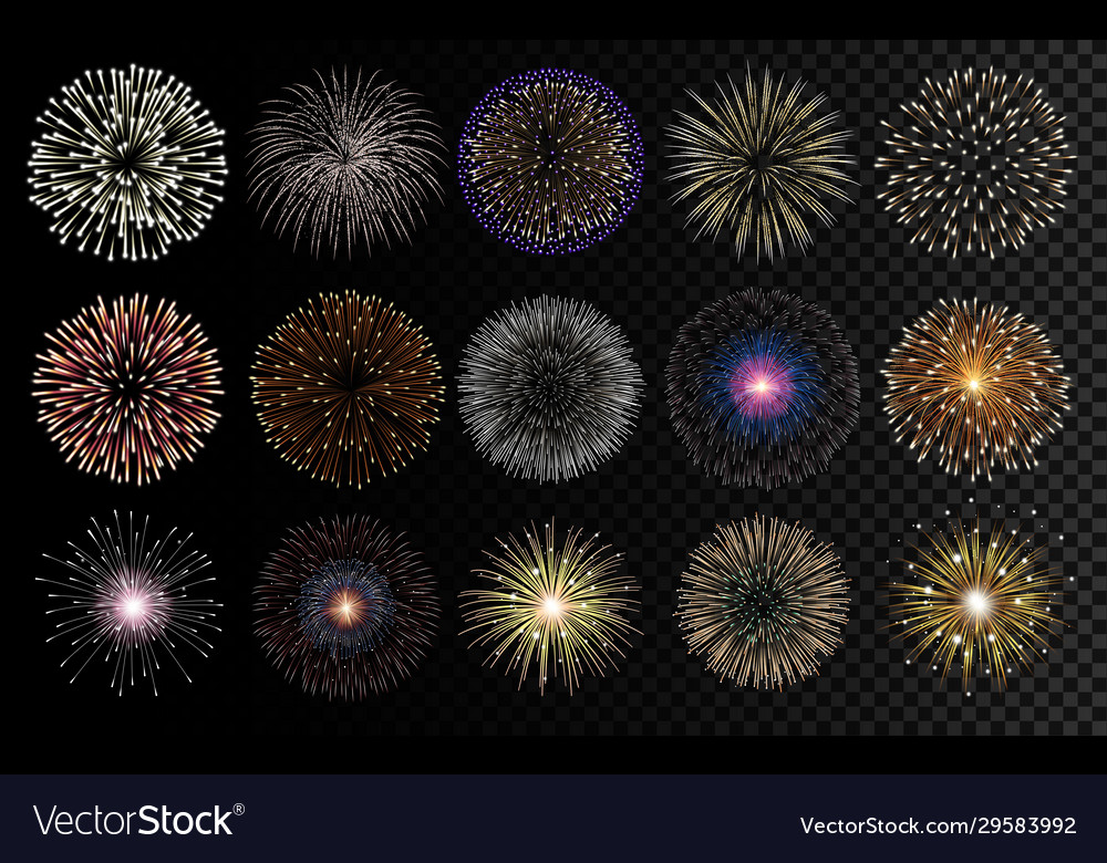 Fireworks realistic