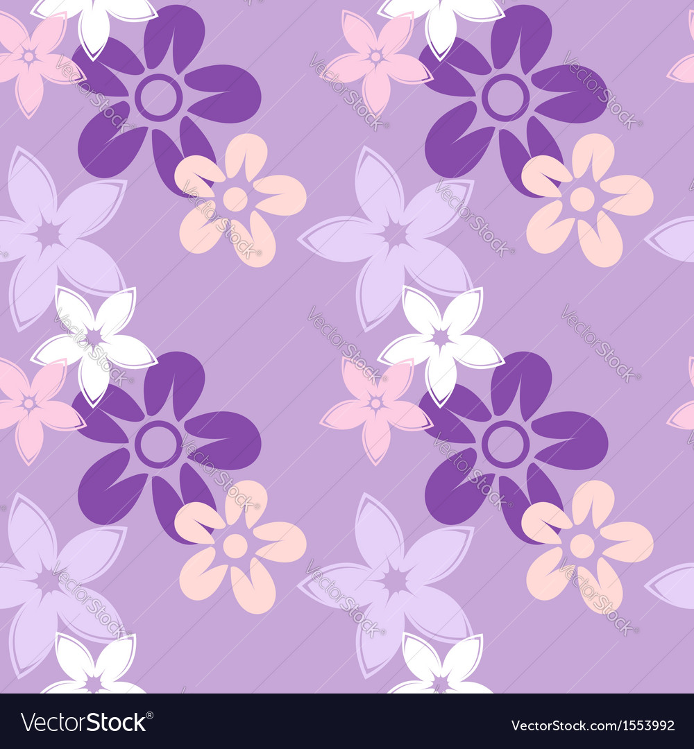 Floral silhouettes pattern lilac