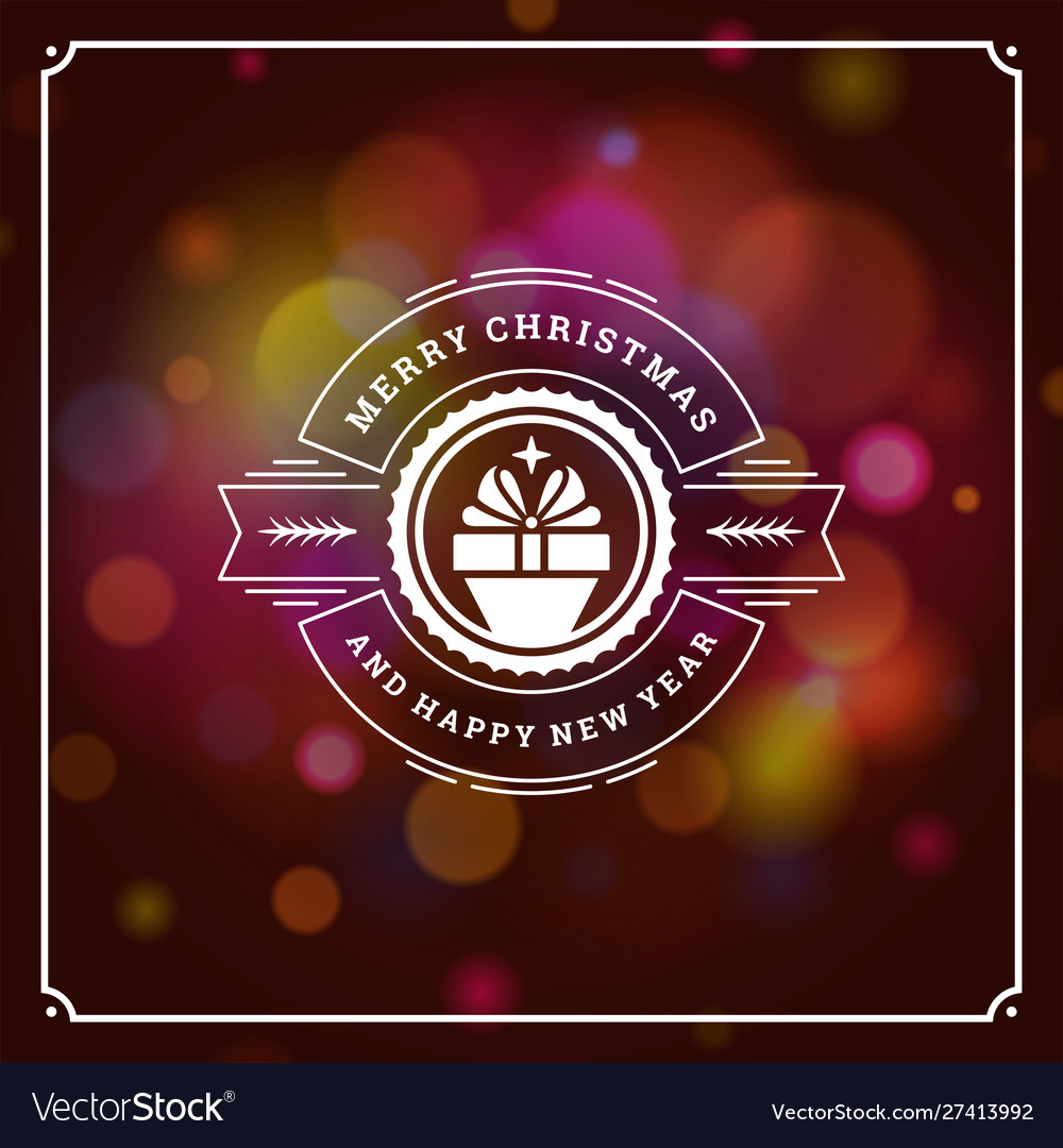 Merry christmas and happy new year text greeting