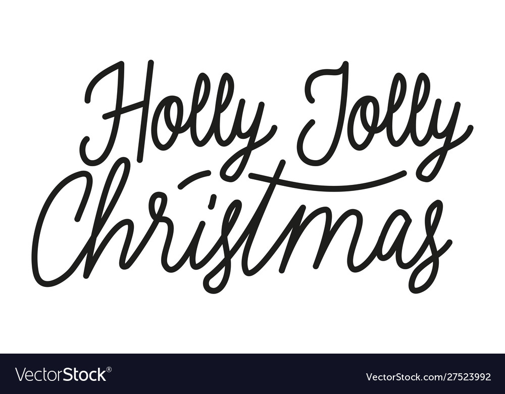 Christmas Calligraphy.Merry Christmas Calligraphy Lettering Icon