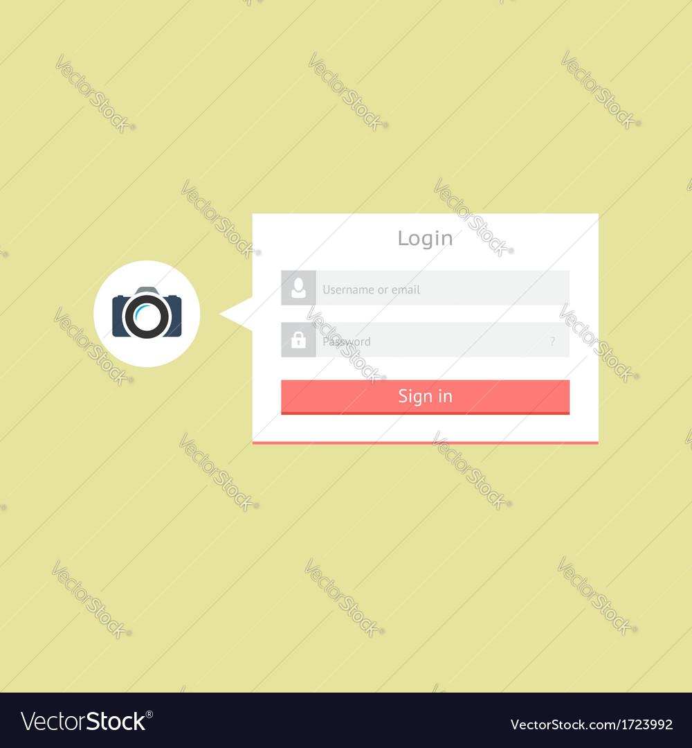 Minimalistic login form