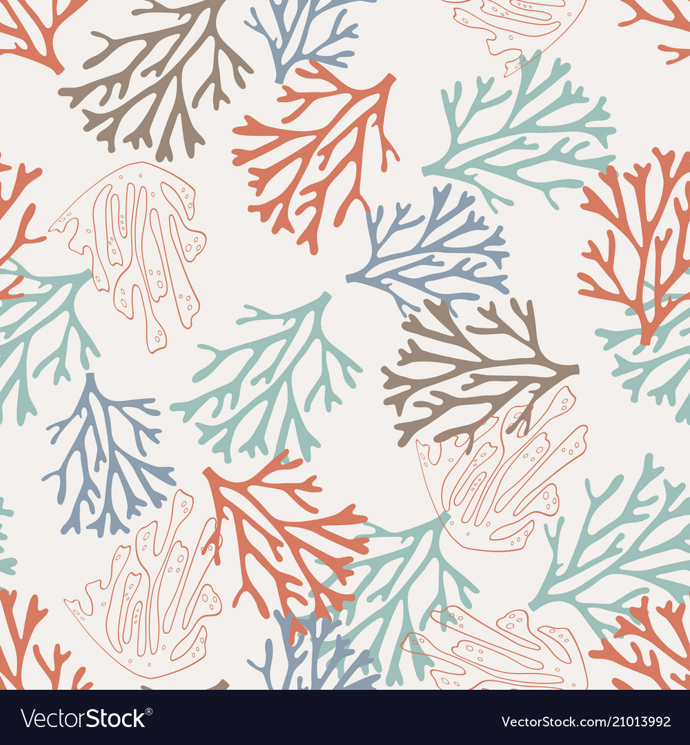Pattern with coral