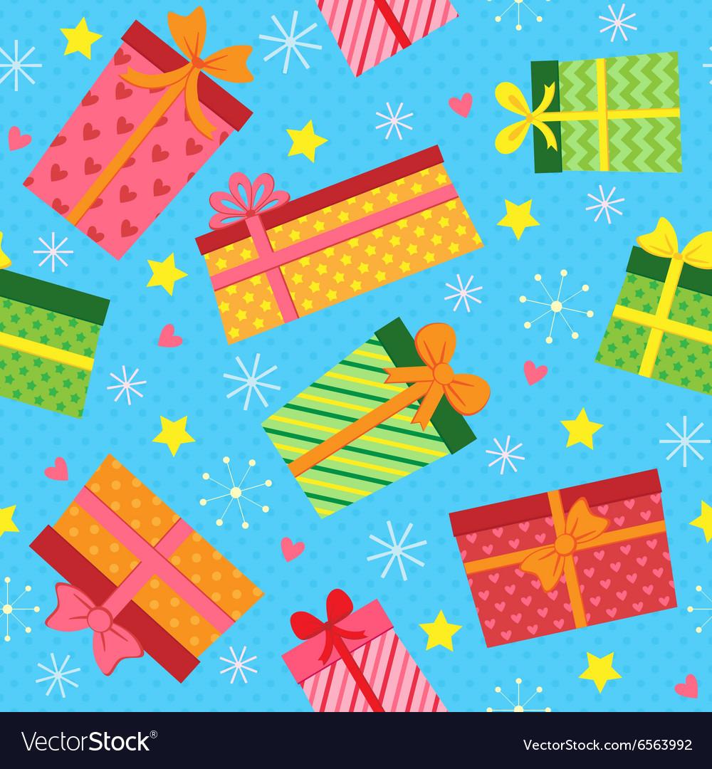 Seamless present pattern