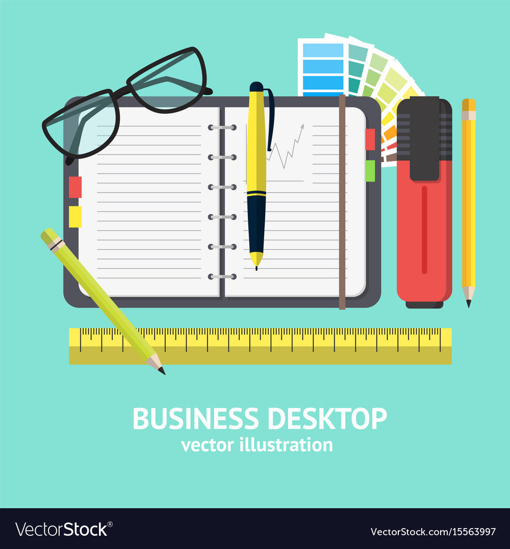 Cartoon business workplace card vector image