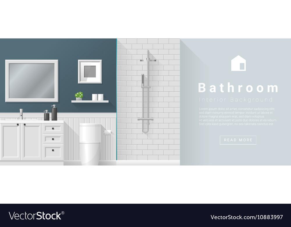 Interior Design Modern Bathroom Background 2 Vector Image
