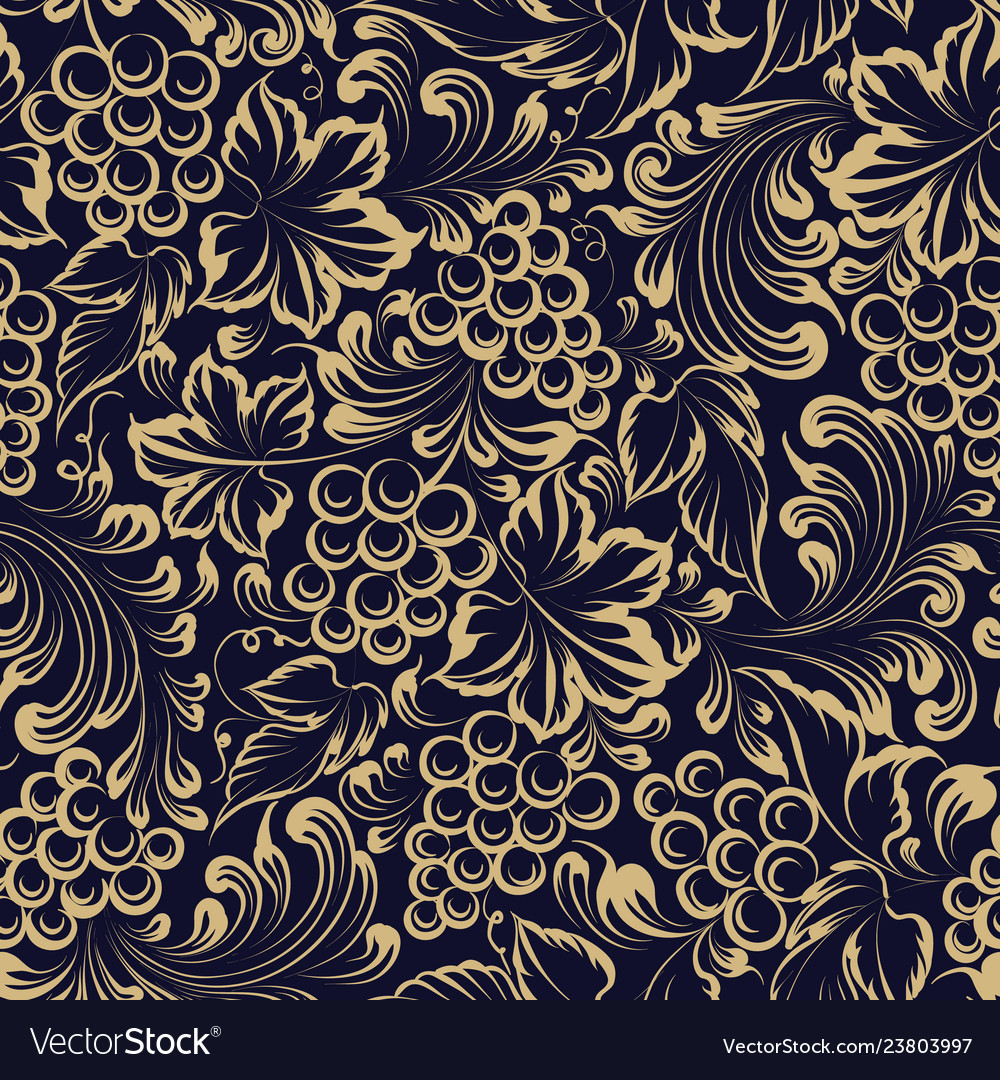 Vine seamless pattern for package design old