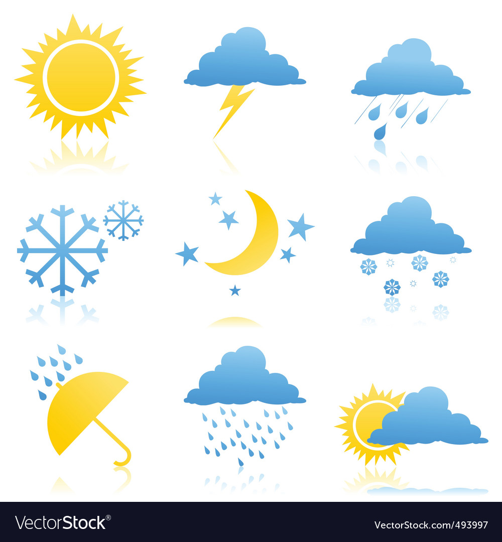 Weather icons2 vector