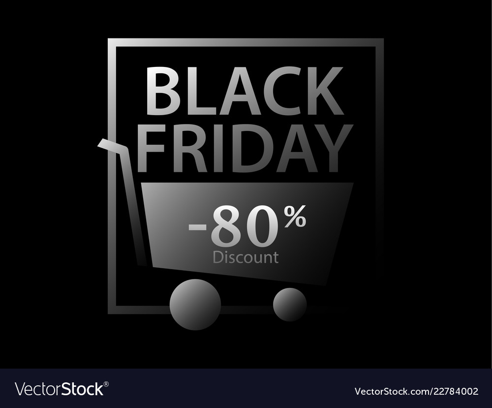 Black friday 80 percent discount promotional