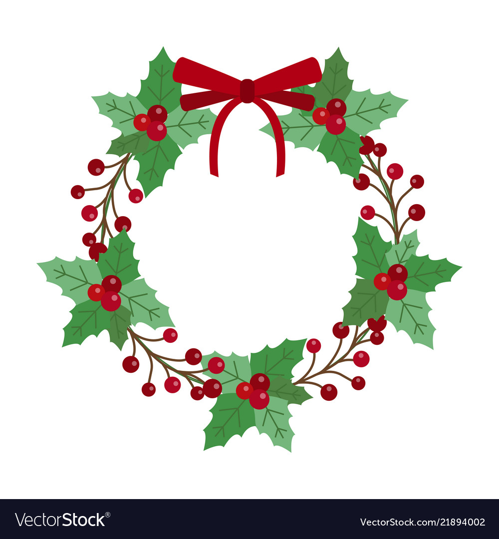 Christmas holiday wreath icon