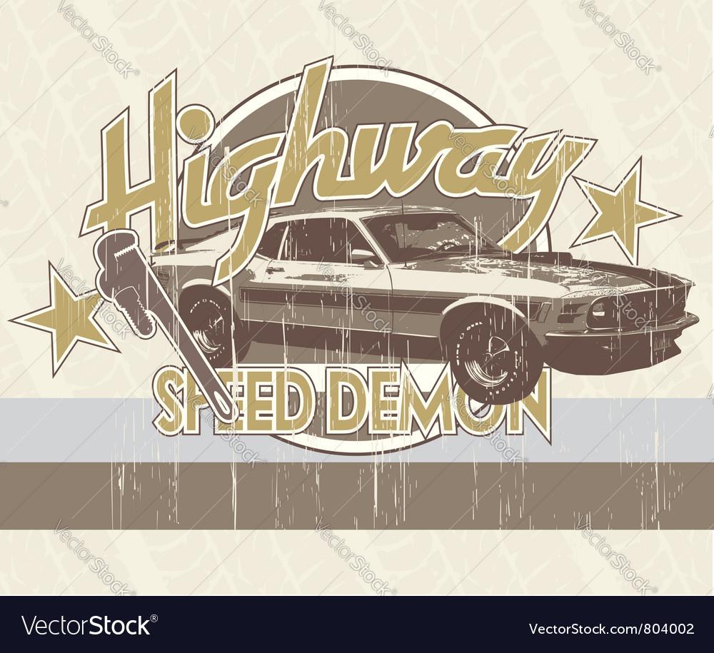 Classic car vector image