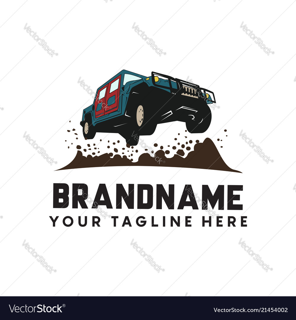 Offroad extreme adventure automotive logo template