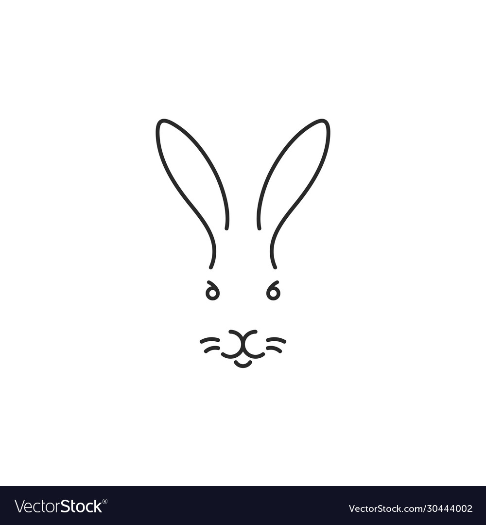 Rabbit outline style
