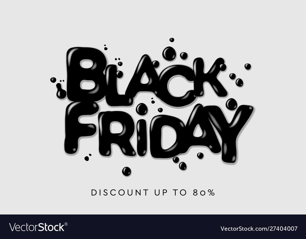 Black friday sale banner poster logo dark color