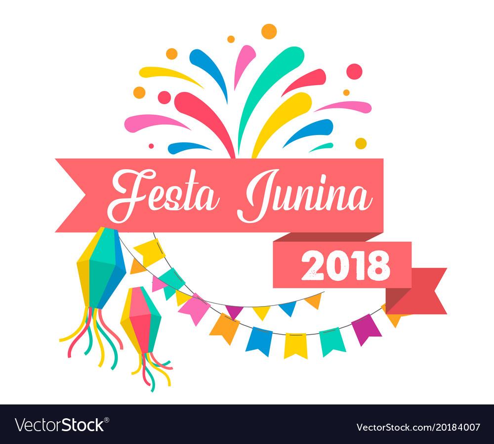 Brazilian june festival poster vector image
