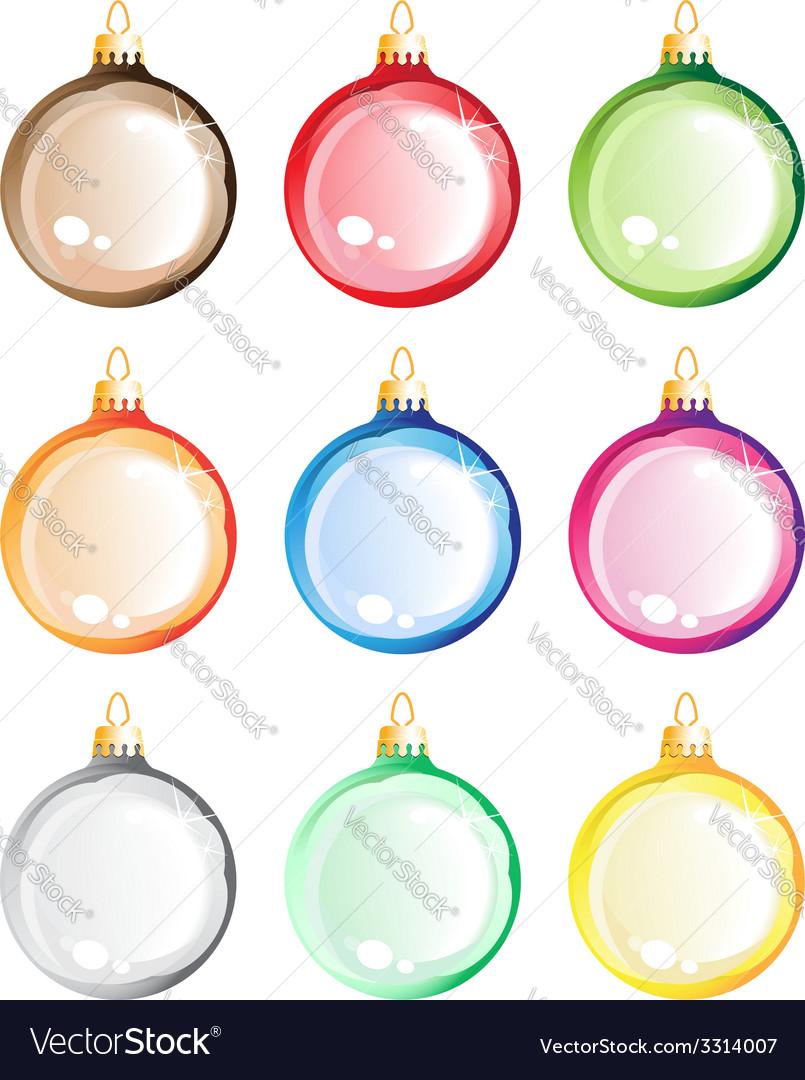 Christmas tree balls set