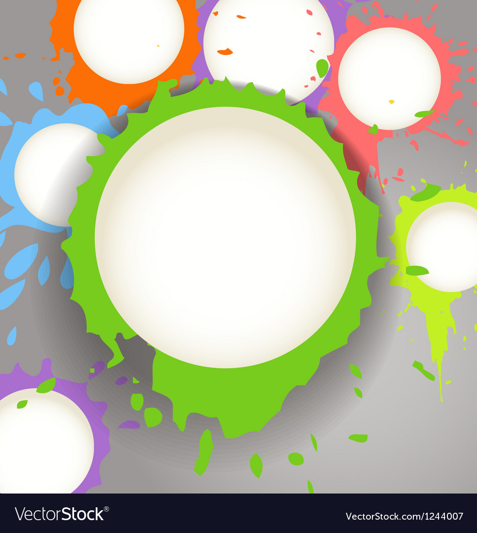 Color ink blots speech clouds abstract background vector image