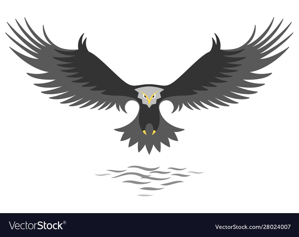 Modern simple eagle logo design
