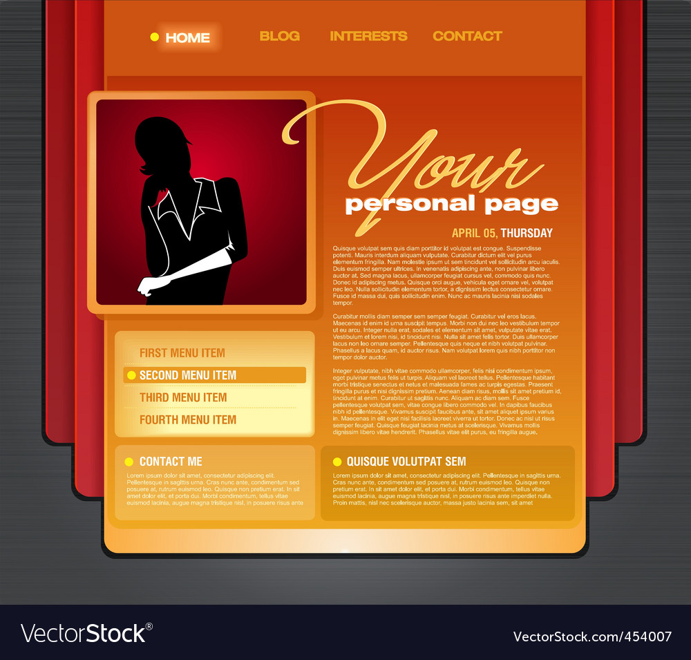 Personal blog web page