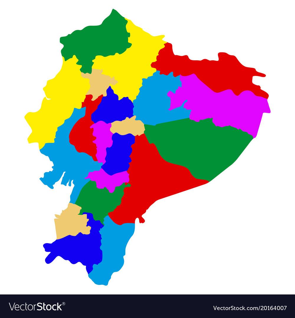 Political Map Of Ecuador Royalty Free Vector Image