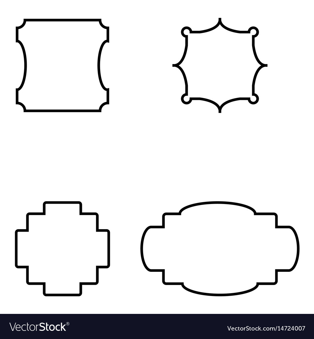 set of simple frames royalty free vector image rh vectorstock com frames vector art frames vector art
