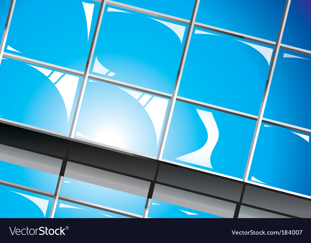 Shiny window reflections vector image