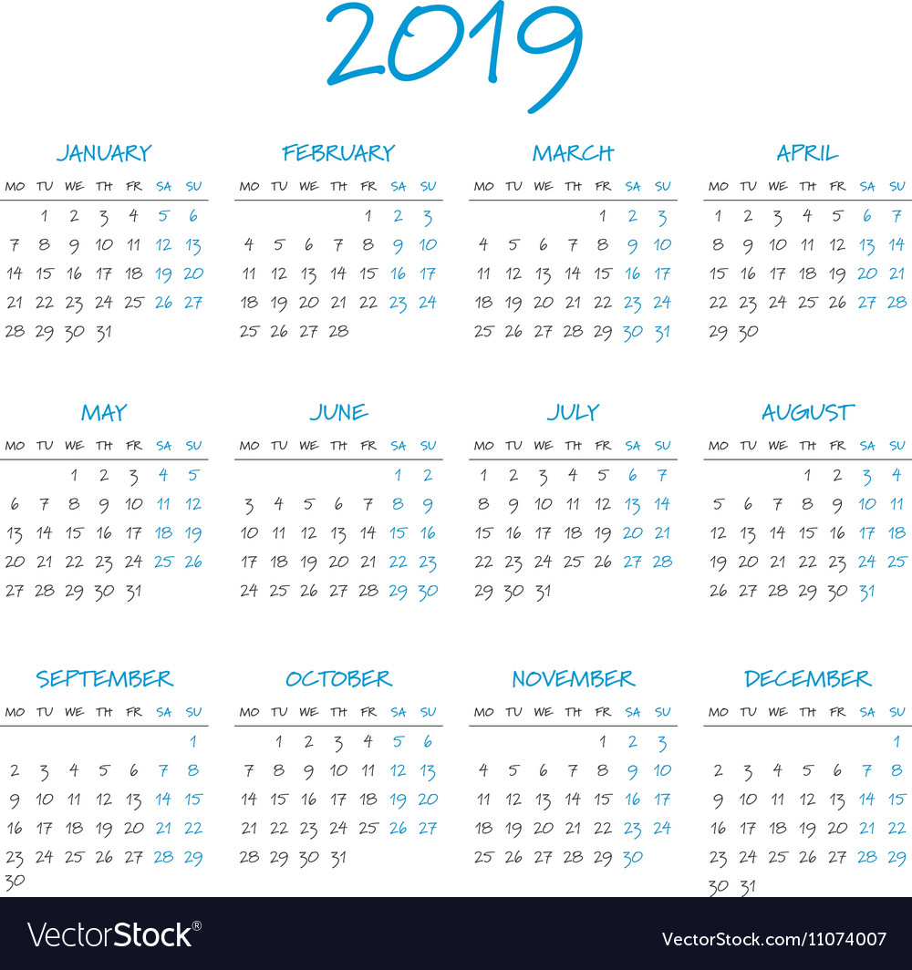 Time and date calendar 2019 in Perth