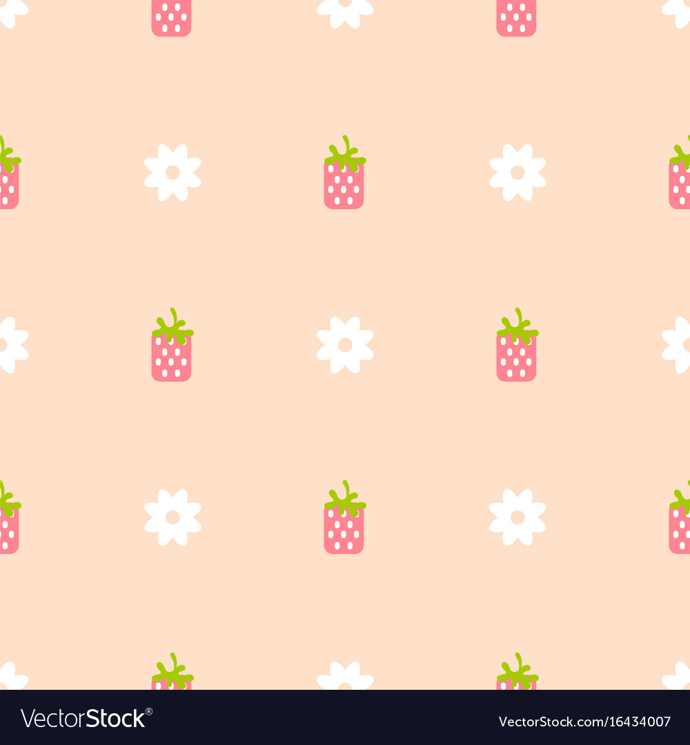 Strawberry pink and peach color seamless pattern