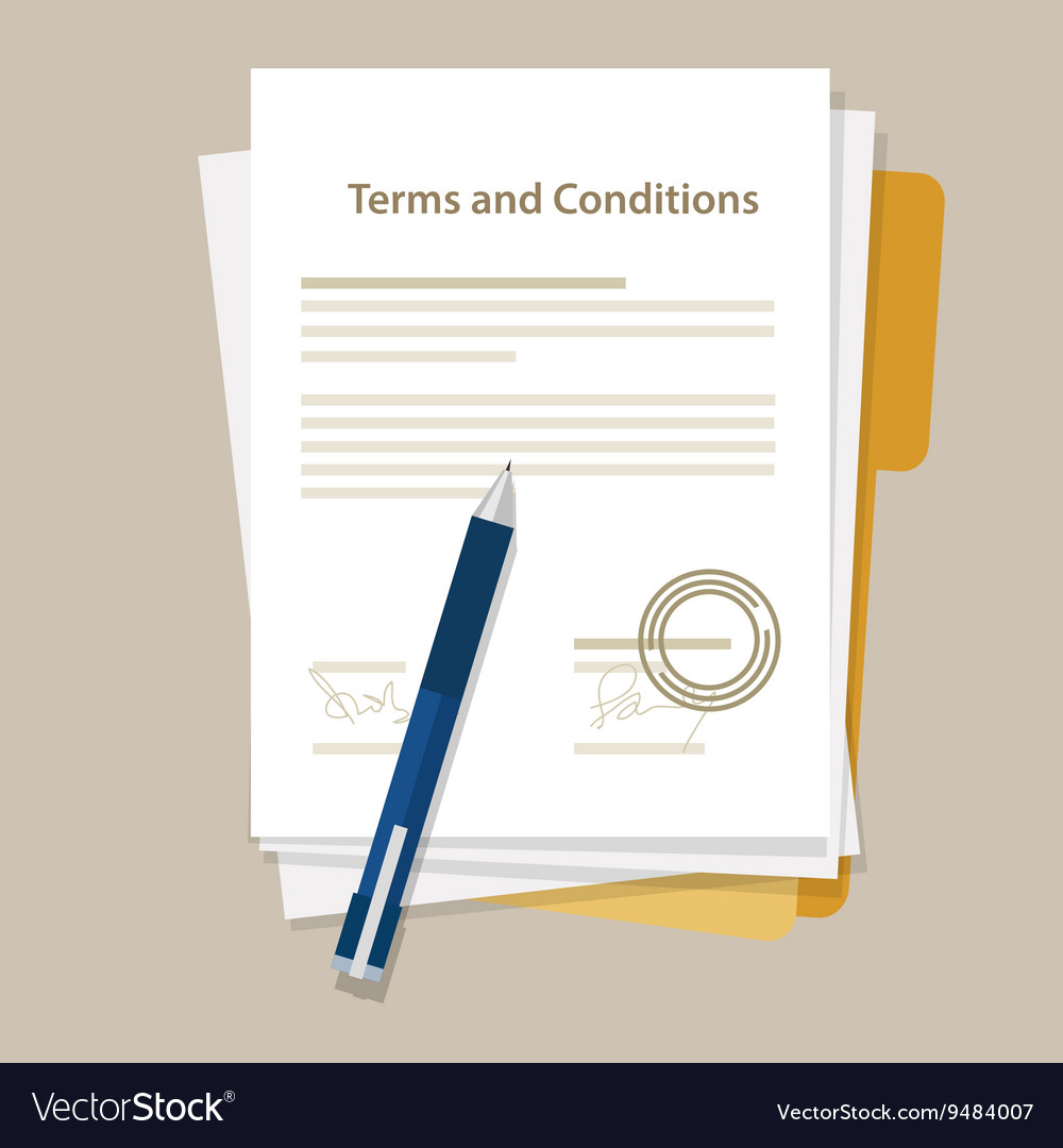 Terms and condition document paper legal