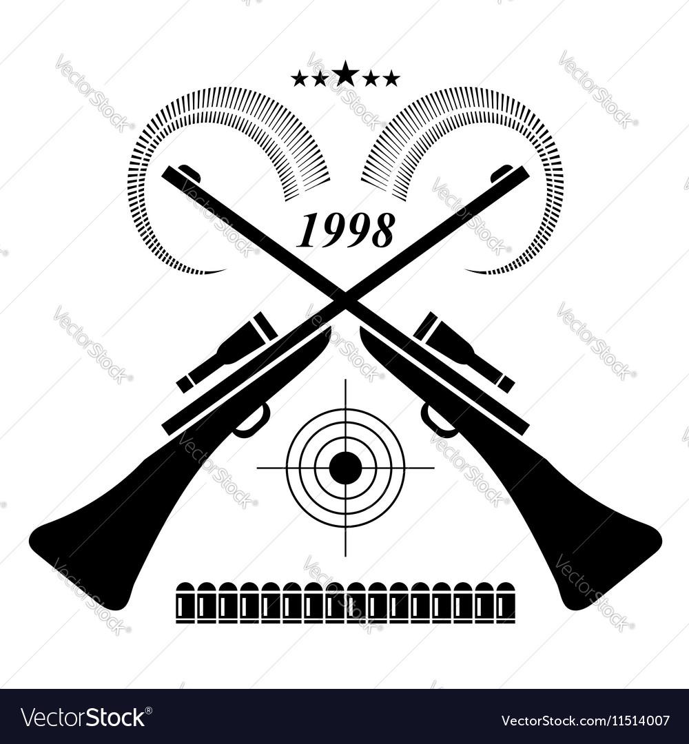 Vintage Hunting Label Logo of Badge Hunters Club