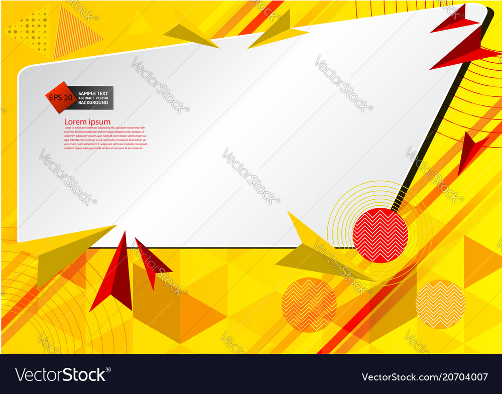Yellow color geometric abstract background vector image