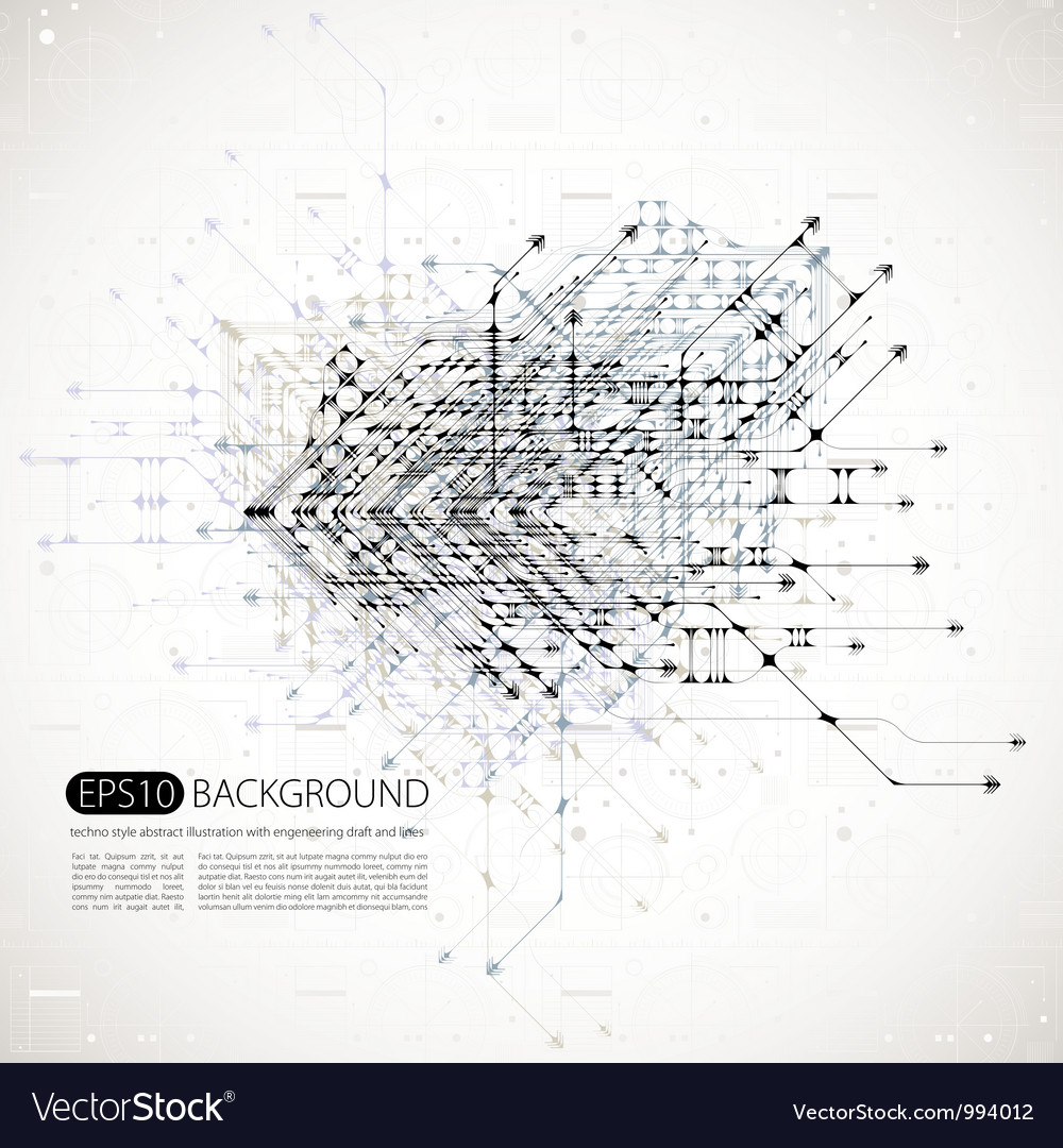 Abstract background techno style