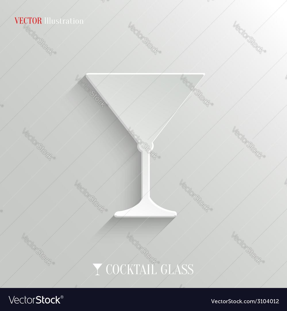Cocktail glass icon - white app button