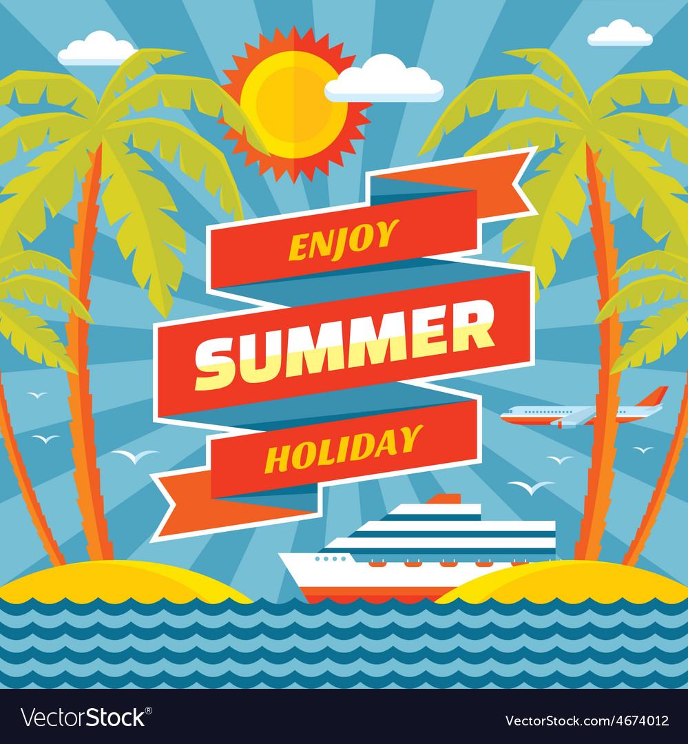 Enjoy summer holiday - concept banner