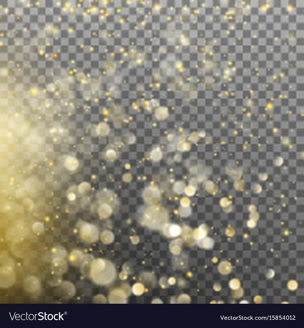 Gold glitter particles background effect ps 10 vector image