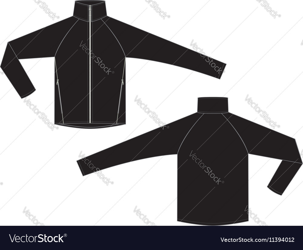 Mens Jacket Template Outdoor And Sports Royalty Free Vector