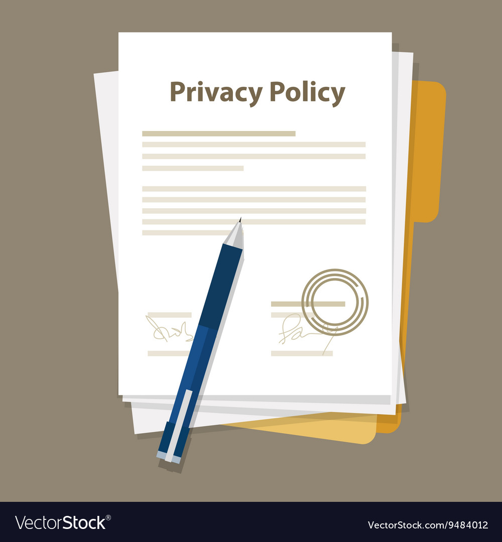 Privacy policy document paper legal aggreement