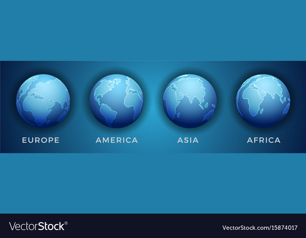 World Map 3d View.3d World Map In Different View Royalty Free Vector Image