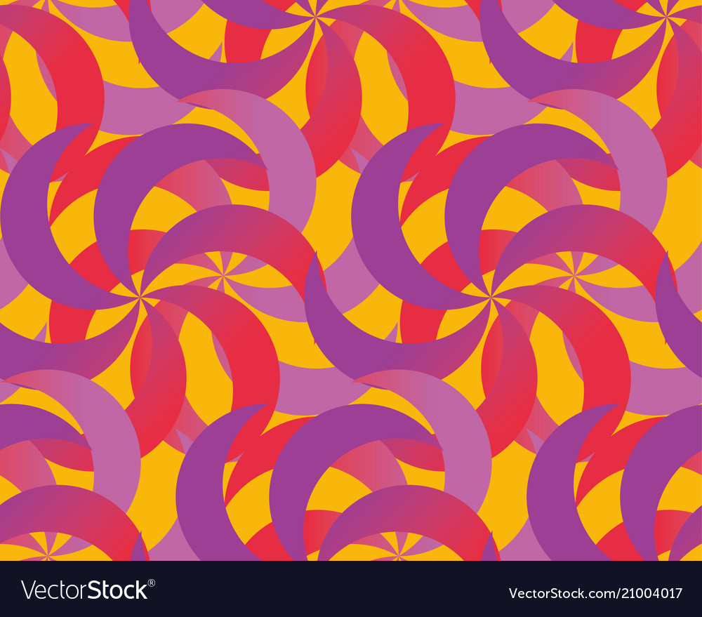 Abstract spinning dynamic seamless pattern