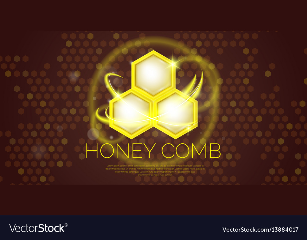 Modern poster for sale of cosmetics based on honey