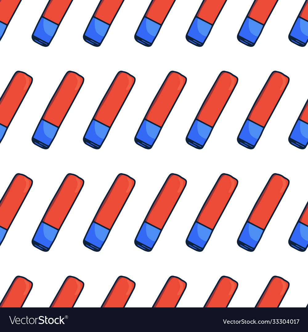 Seamless pattern handdrawn eraser doodle icon